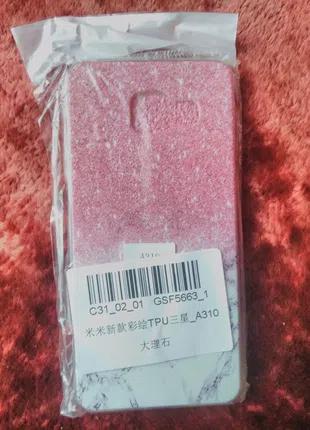 ZTE A310 чехол бампер на телефон розовый блеск