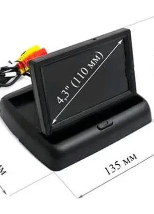 Автомобильный монитор складной для камеры заднего вида 4,3'.