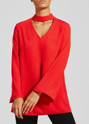 В наличии - блуза с чокером и клешеным рукавом *papaya* 14 р.