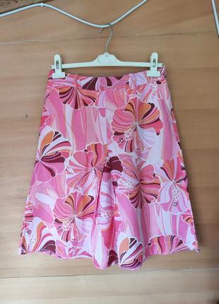 Летняя юбка цветочный принт zara