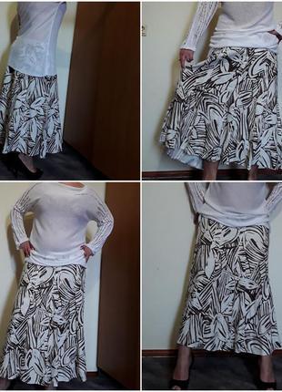 Льняная юбка в пол