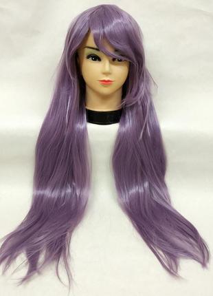 Парик прямой фиолетовый 80см 3568