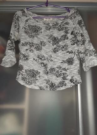 Легкий джемпер свитерок с розами
