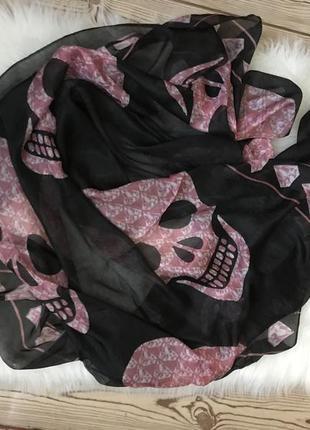 Платок/ шарф  с черепом