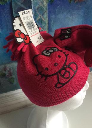 Комплект шапка перчатки hello kitty