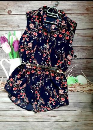 Стильная нарядная блузка шифоновая батал