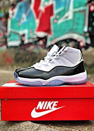 Nike air jordan 11 белые с чёрным ♦ мужские кроссовки ♦ весна ...