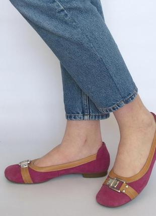 Туфли, балетки, gabor, натуральная кожа. большой размер