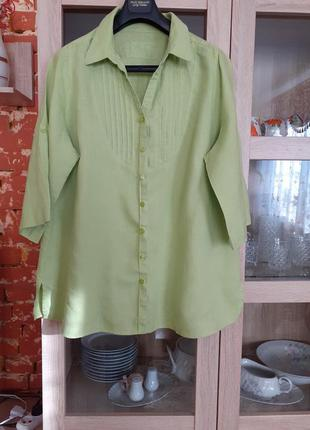 Очень классная льняная рубашка туника большого размера