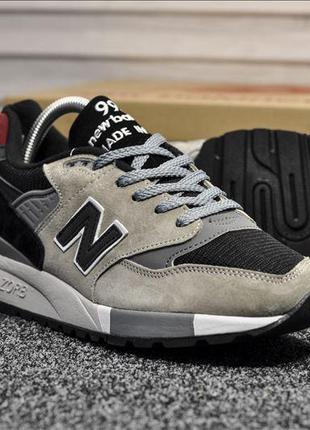 Эксклюзивные кроссовки new balance 998 gray black