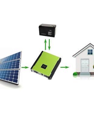 Бюджетная автономная солнечная станция 5кВт