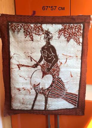 картина женщина с барабаном полотно