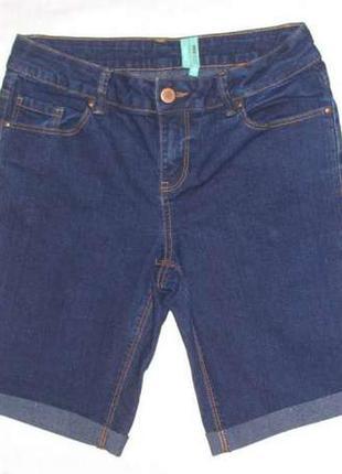 Шорты yesyes размер 42-44 женские темные синие джинсовые стрей...