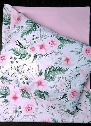 Пледик весенне-летний + подушека со сменной наволочкой