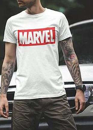 """Футболка мужская с принтом """"Marvel"""""""