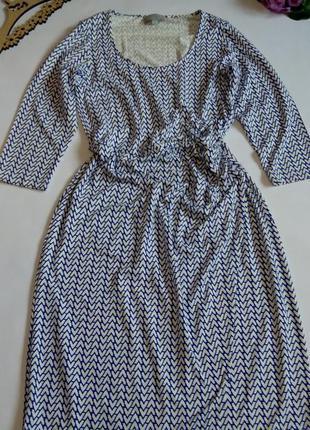 Платье миди 48 размер нарядное офисное с рукавом новое натурал...