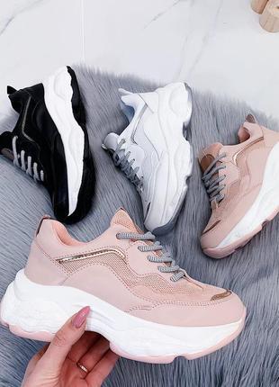 Стильные кроссовки на платформе,женские кроссовки на массивной...