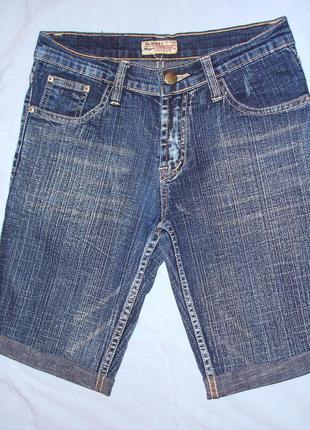 Шорты wizard размер 40 xs женские джинсовые стрейчевые средней...