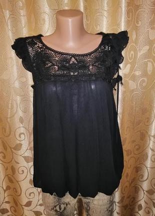 🌺🎀🌺красивая женская черная легкая майка, блузка new look🔥🔥🔥