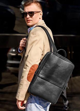 Кожаный мужской городской рюкзак в стиле smart casual классиче...