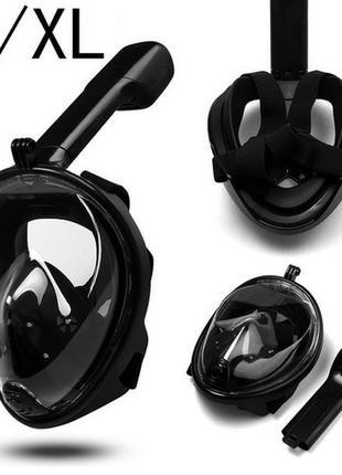 Маска для дайвинг снорклинга подводного плавания на всё лицо L/XL
