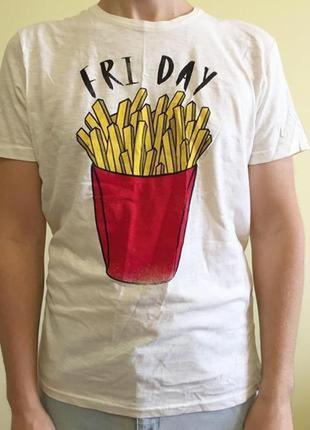 Футболка чоловіча, fri day. крута, смішна футболка, картопля.