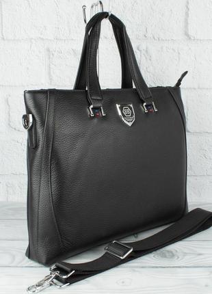 Кожаный портфель, сумка для документов bb 2417 b 253 формата а-4
