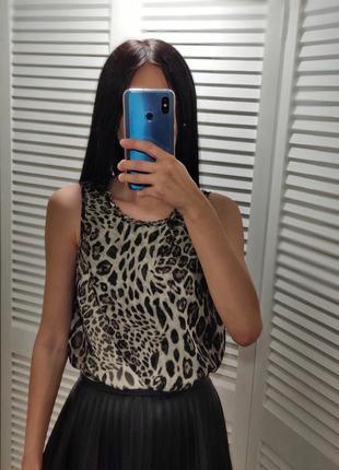 Блузка в леопардовый принт, р-р s, milllenium