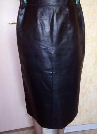 Красивая юбка из натуральной кожи /юбка кожаная /юбка кожаная ...