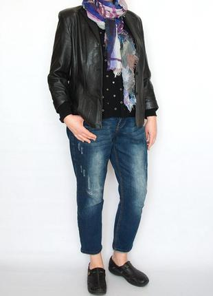 Пиджак, жакет, куртка, gerry weber, натуральная кожа, наппа