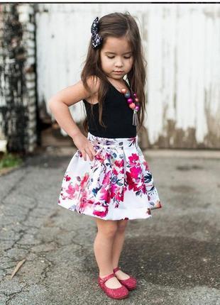 Летний костюм майка юбка