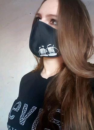 Защитные многоразовые двухслойные маски!