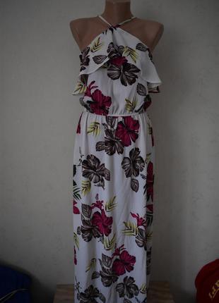 Красивое платье с принтом atmosphere