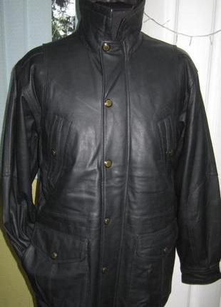 L-xl новая. тёплая. оригинальная кожаная куртка henry morell