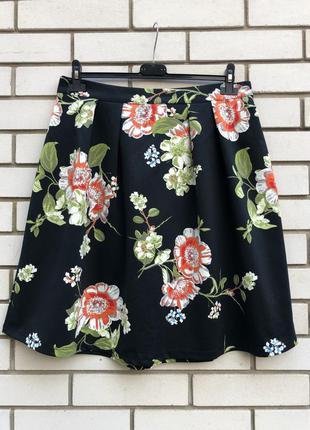 Красивая,цветочная юбка из плотного трикотажа,мягкие складки,б...