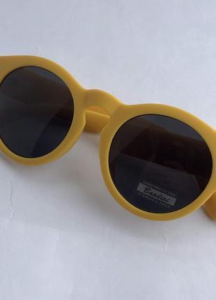 Жёлтые цветные солнцезащитные очки ! uv400