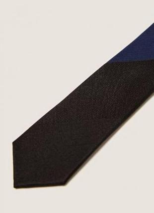 Чёрный узкий галстук zara man !