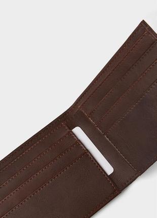 Коричневый кожаный кошелек zara man !