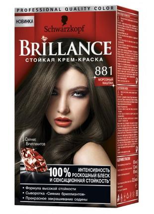 Краска для волос Brillance Морозный каштан
