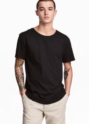 Чёрная хлопковая футболка h&m !