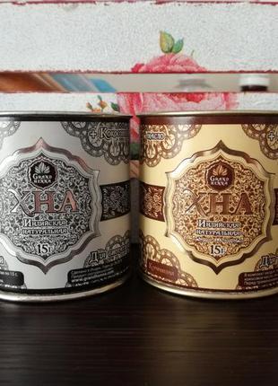 Натуральная хна для окрашивания бровей, биотату Grand Henna