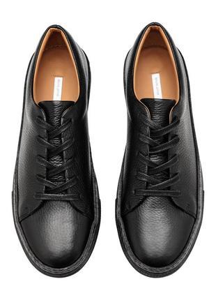 Черные кожаные кроссовки h&m premium quality !