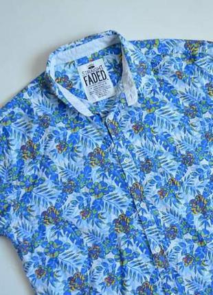 Рубашка гавайская хлопковая сорочка