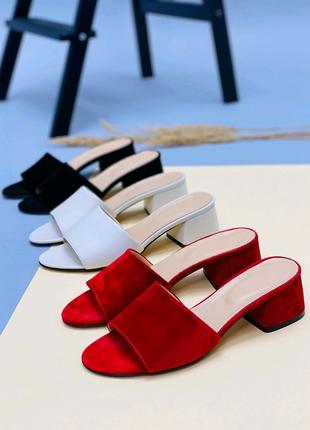Женские натуральные босоножки сандали Шлепки