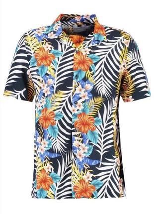 Мульти-яркая рубашка  topman hibiscus 🌺
