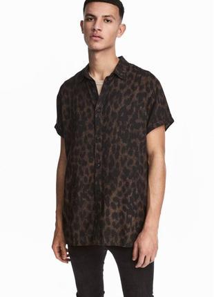 Леопардовая рубашка h&m !