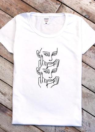 Футболка приталенная/женская белая футболка