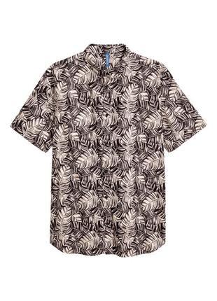Хлопковая рубашка h&m с рисунком !