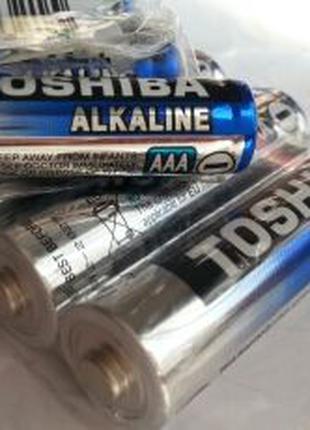 Батарейки Toshiba Alkaline AA AAA Щелочные 2029Год L44 AG13 LR44