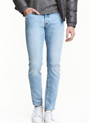 Светлые джинсы h&m x the weeknd collection! slim low jeans !